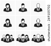 office people icons set | Shutterstock .eps vector #269105702