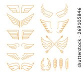 vector set of linear icons  ... | Shutterstock .eps vector #269105846