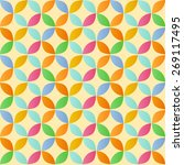 vintage abstract colorful... | Shutterstock .eps vector #269117495