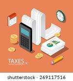 flat 3d isometric design...   Shutterstock .eps vector #269117516