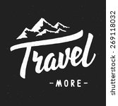 """travel more"" vintage brush... 