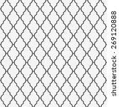 grey lattice pattern. seamless... | Shutterstock .eps vector #269120888