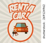rent a car design over striped... | Shutterstock .eps vector #269124962