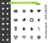 ecology icons set   16 icon set | Shutterstock .eps vector #269128205