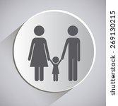 family design over grey... | Shutterstock .eps vector #269130215