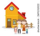 family design over white... | Shutterstock .eps vector #269131022