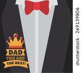 fathers day design over grey...   Shutterstock .eps vector #269139806