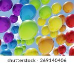 Colorful Balloons Over Blue Sky