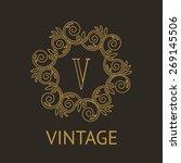 simple and elegant monogram...   Shutterstock .eps vector #269145506