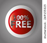 free label design over gray... | Shutterstock .eps vector #269155325