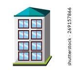 urban design over white... | Shutterstock .eps vector #269157866