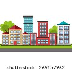 urban design over white... | Shutterstock .eps vector #269157962