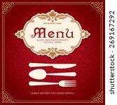 restaurant menu design vintage... | Shutterstock .eps vector #269167292