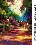 Landscape Painting Showing Pat...