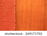 Abstract Rust Colored Fabric...