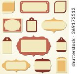 retro holiday labels and tags   ... | Shutterstock .eps vector #269172512