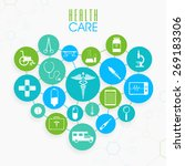 set of different health care... | Shutterstock .eps vector #269183306