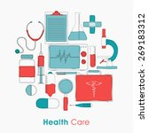 set of health care elements on... | Shutterstock .eps vector #269183312