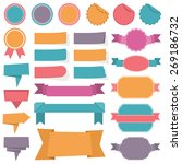 collection of different labels  ... | Shutterstock .eps vector #269186732