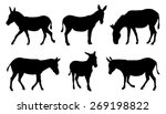 Donkey Silhouettes On The Whit...