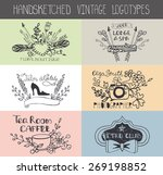 vintage  doodle hand drawing... | Shutterstock .eps vector #269198852