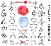 doodles  lettering ampersands... | Shutterstock .eps vector #269199176