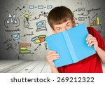 student  book  male. | Shutterstock . vector #269212322