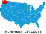 washington map | Shutterstock .eps vector #269223755