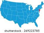 new jersey map | Shutterstock .eps vector #269223785