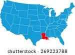 louisiana map | Shutterstock .eps vector #269223788