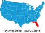 florida map | Shutterstock .eps vector #269223845