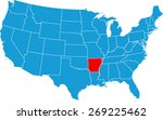 arkansas map | Shutterstock .eps vector #269225462