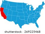california map   Shutterstock .eps vector #269225468