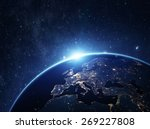 planet earth from the space at...
