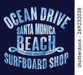 surf sport california... | Shutterstock .eps vector #269232038