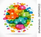 vector background. social media ... | Shutterstock .eps vector #269234312
