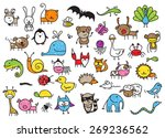 cute children's drawing style... | Shutterstock . vector #269236562