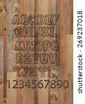 wooden alphabet letters and... | Shutterstock . vector #269237018