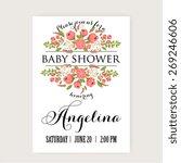 baby shower invitation card... | Shutterstock .eps vector #269246606