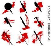 collection of vector murder... | Shutterstock .eps vector #26924776
