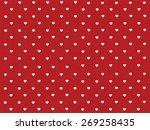 Hearts Polka Dot Pattern With...