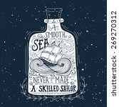 hand drawn vintage label with a ... | Shutterstock .eps vector #269270312