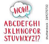 hand drawn alphabet for comic... | Shutterstock .eps vector #269270732