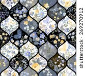 seamless patchwork pattern with ... | Shutterstock .eps vector #269270912