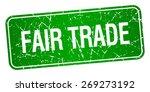 fair trade green square grunge...   Shutterstock .eps vector #269273192