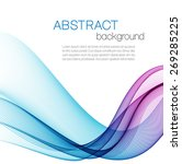 abstract background with color... | Shutterstock .eps vector #269285225