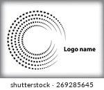 abstract circular halftone dots ... | Shutterstock .eps vector #269285645