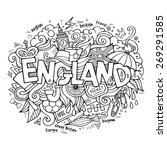 england hand lettering and... | Shutterstock .eps vector #269291585