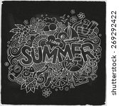 summer hand lettering and... | Shutterstock .eps vector #269292422