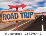 Road Trip Sign With Road...